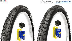 2 pneus VTT DELI SA-229  26 x 2.10  + 2 chambres à air  Michelin  vélo MTB