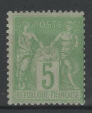 """FRANCE STAMP TIMBRE 102 """" TYPE SAGE 5c VERT JAUNE TYPE I """" NEUF xx LUXE  P418"""