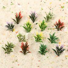 100pc Mixed 5 Color Model Flowering Plants Railway Park Garden Scene 1:100 Scale