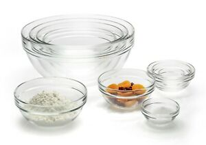 *Brand New* Luminarc Stackable Glass Bowl 10 Piece Set, Clear