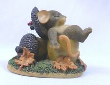 "Adorable Charming Tails Figurine "" Nuts About You"" By Fitz & Floyd Must See 85/5"