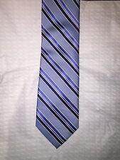 Club Room Mens Neck Tie Light Blue Striped 3.25'' W x 59'' L 3 1/4 NEW