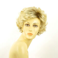 short wig women very light blond curly golden ref: juliette ys PERUK
