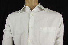 Hugo Boss M1 White Button Down Dress Shirt Long Sleeves Classic Large 16 34-35