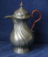 Zinn Kanne wohl zw. 1860-1920 für Kakao Tee Mokka wohl Rokoko-Form 17,5cm Le22