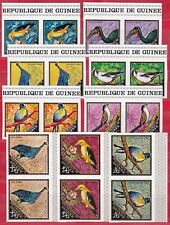 Guinea,  Wild Animals, Birds in pairs. Imperf. set 1971.   MNH.