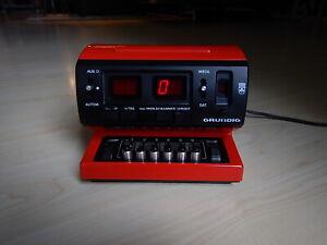 Grundig Sono Clock 500a Vintage Rot Radiowecker 80er Radio Wecker