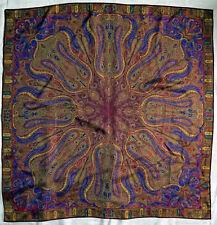 Vintage Scarf / Bandanna Silk Beautiful Paisleys in Geometric Pattern