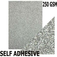 Silver Sparkly Glitter Card Pieces 65mm x 300mm