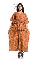Indien Coton Longue Créateur Caftan Robe Chemise de Nuit Décontracté Tunique