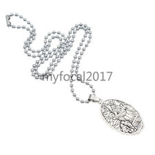 St. Michael Archangel Silver Necklace Vicking Pendant Charms Jewelry Men's Gifts
