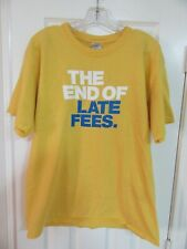 VINTAGE BLOCKBUSTER VIDEO YELLOW THE END OF LATE FEES MEN'S SHIRT SIZE LARGE