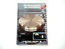 Micro Seiki Katalog Prospekt 1983 / 84 Hifi Audio Technik Broschüre HI-FI 1984