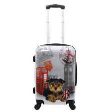 "CHARIOT London UK Dog Upright HARDSIDE LUGGAGE SPINNER 24"" CARRYON SUITCASE NEW"