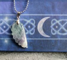 fluorite necklace angel wing crystal healing spiritual support
