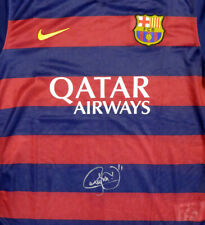 NEYMAR JR. AUTOGRAPHED BARCELONA QATAR AIRWAYS NIKE JERSEY S PSA/DNA 116597