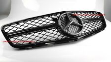 MERCEDES BENZ W204 C63 1FIN GRILLE 2012-2014 C-CLASS AMG 100% BLACK also Coupe