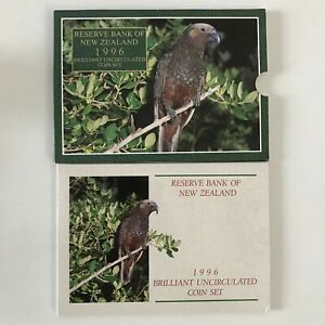 1996 New Zealand Brilliant UNC Set with Annual Kaka Coin