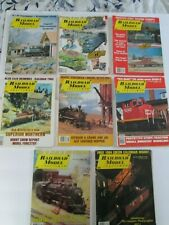 Railroad Model Craftsman 8 Issues, Vintage 1983 and 1984 ,Model Train Magazines