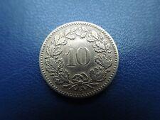 N1076 COIN SWITZERLAND  1883 B 10 RAPPEN
