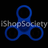 GLOW IN THE DARK Fidget Tri Spinner Figet EDC Gyro Anxiety Toy ADHD -USA- BLUE