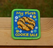 "My First Cookie Sale Girl Scouts Badge 2 1/4"" Embroidered Patch"