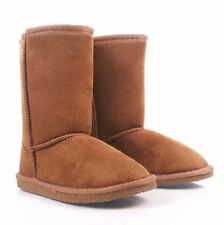 Tan Color Slip On Only Kids Girls Boots Faux Fur Interior Winter Youth Size #12