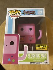 "EXCLUSIVE ADVENTURE TIME BLUSHING PINK BMO 3.75"" POP VINYL FIGURE - FUNKO NEW"