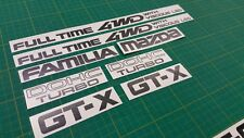 Mazda Familia 323 GT-X dohc Full Time 4WD with Viscous LSD  Decals Stickers