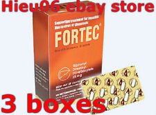 3 Boxes Fortec Dicarboxylate 25mg treatment liver due to chemicals virus drugs