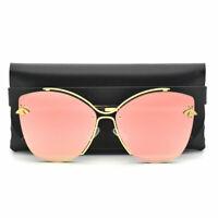 Fashion Women's Bee Sunglasses Retro Metal Oversized Cat Eye Glasses UV400 GAFAS