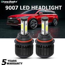 2Pcs 4-Sides 9007 HB5 LED Headlight Kit White 22000LM 6000K Bulbs High Low Light
