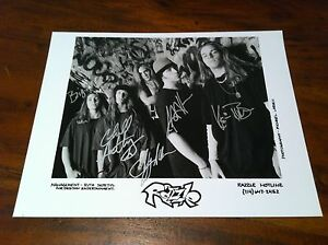 RAZZLE '8 x 10' Black & White Glossy Autographed Photo Hard Rock LIT Stain Rare