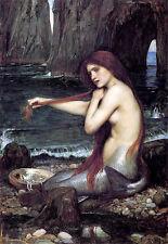 A Mermaid John William Waterhouse Poster Art  Print