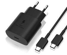 GENUINE SAMSUNG EU 2-Pin 25W FAST CHARGER / CABLE FOR GALAXY S20 S10 NOTE 10 S9