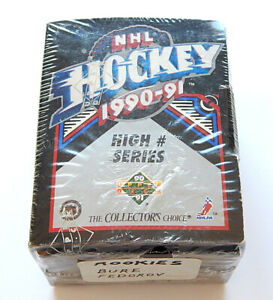 # 1990-91 Upper Deck Hockey High # Series Factory Set (401-550) Sealed