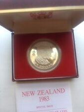1983 New Zealand Royal Visit Proof Silver dollar in original case