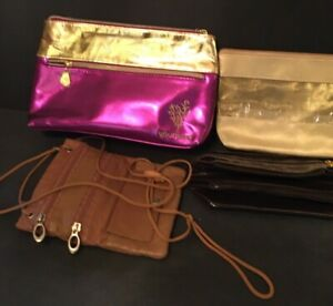 4 Mix Hand Bags, Makeup Travel Cosmetic Bag Case Multifunction Toiletry Gold