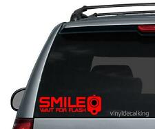 """""""SMILE Wait For Flash"""" Pistol warning decal sticker,.40,.45,For Glock Enthusiast"""