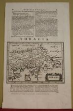 THRACE GREECE 1661 JOHANN LAUREMBERG ANTIQUE ORIGINAL COPPER ENGRAVED MAP