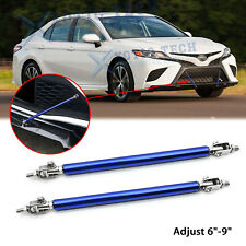 "Adjust 6""-9"" Bumper Rod Stabilizer Splitter Lip Support Bars For Toyota 86 Camry"