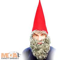 Red Dwarf Hat + Beard Mens Fancy Dress Christmas Elf Adults Costume Accessory