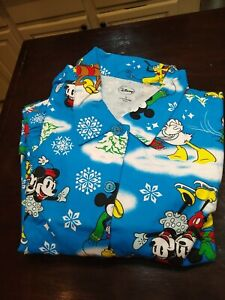 Minnie & Mickey Mouse Disney Cotton Flannel Pajamas Size 3X New