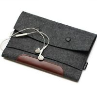 "Wool Felt Sleeve Laptop Case Cover Bag Pouch for Apple MacBook iPad Pro 12"" 15"""