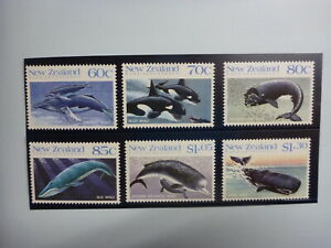 1988 NEW ZEALAND THE WHALES SET 6  MINT STAMPS