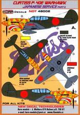 KORA Decals 1/48 CURTISS P-40E WARHAWK Captured Japanese Aircraft Part 2
