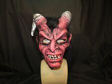 Diablo Devil Mask Full Latex Mask With Horns.Zagone Studios USA. UK Stock.