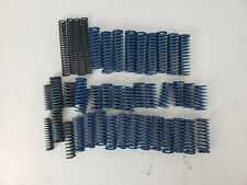 Lot of Vintage Blue Compression Springs Heavy Duty Industrial AS IS Parts
