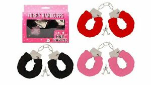 FURRY HANDCUFFS FLUFFY SEXY FANCY DRESS HEN NIGHT TOY SEX AID ROLE PLAY NOVELTY