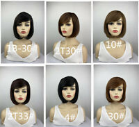 """LADIES SHORT BOB HAIR with FRINGE GIRLS PARTY WIG 12/"""" FANCY DRESS 7 x COLOURS"""